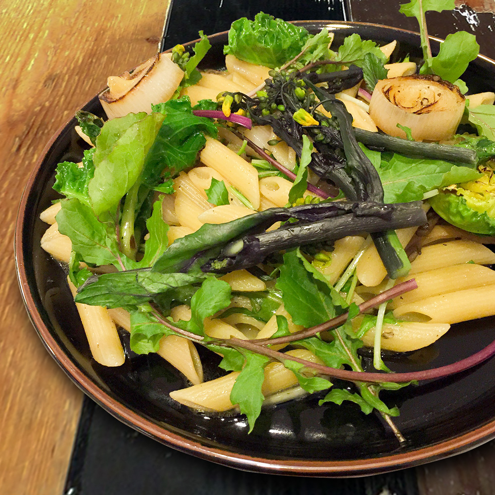 garden vegetable pasta 冬野菜をパスタで味わう