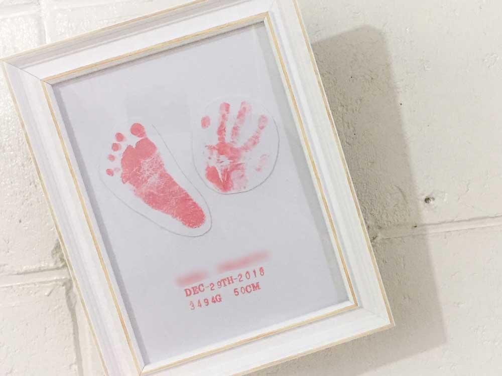 赤ちゃん用手足型オリジナルフレーム